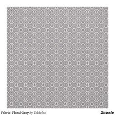 Fabric: Floral Grey