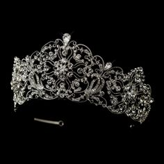 "Regal 2 3/4"" High Rhinestone Wedding or Quinceanera Tiara - Affordable Elegance Bridal -"