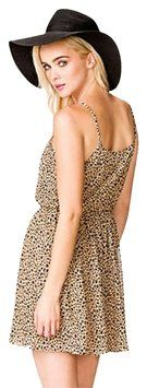 Forever 21 short dress Brown Chiffon Animal Print on Tradesy