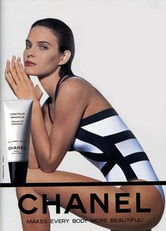 Chanel, 1992 Model : Patricia Van Ryckeghem Uploaded by… Chanel Perfume, Vintage Chanel, Vintage Beauty, Vintage Ads, Cellulite, Chanel Makeup Looks, Chanel News, Coco Chanel, Animals