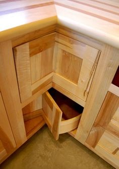Lazy Susan Corner Cabinetry