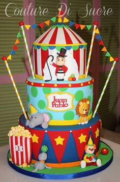 Carnival Party Foods, Circus Carnival Party, Circus Theme Party, Carnival Birthday Parties, Carnival Themes, Circus Birthday, First Birthday Cakes, 1st Boy Birthday, Birthday Party Themes