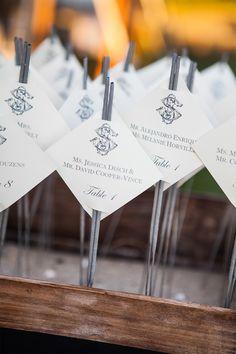 #sparklers, #escort-cards Photography: Jenny Moloney Photography - jennymoloney.com Read More: http://www.stylemepretty.com/2014/02/04/elegant-newport-estate-wedding/