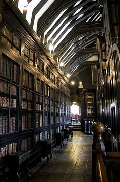 """Beautiful Libraries...Chetham's Library in Manchester, England. Chetham's Hospital, which contains both the library and Chetham's School of Music, was established in 1653 for the education of """"the sons of honest, industrious, and painful parents"""" and as a library for scholarly usage. It is the oldest free public library in the United Kingdom."""