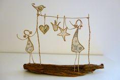 Bonne Année ! - figurines en ficelle et papier : Accessoires de maison par ficelleetpapier