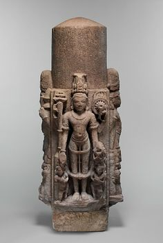 Linga (Phallic Emblem) with Four Standing Deities Indian Gods, Indian Art, Temple Indien, Hindu Deities, Hinduism, Futuristic Art, Ancient Mysteries, Greek Art, Hindu Art