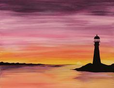 West Coast Lighthouse at Delton Bowling - Paint Nite Events near Riverton, UT>