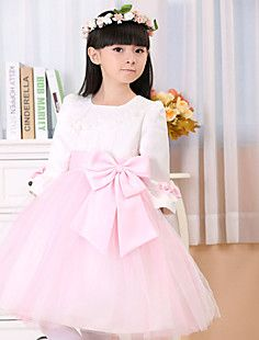 A-line Bateau Knee-length Lace And Tulle Flower Girl Dress – ILS ₪ 234.55