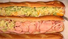 Homemade sub sandwiches - feeding a crowd on a budget.  Great idea!