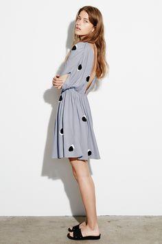 Stine Goya Pasadena - Dress (Pois Grey) | Adélie