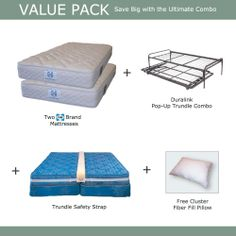 Duralink Trundle & Sealy Mattress Value Pack: Great for overnight guests in limited space