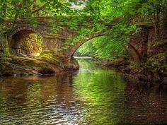 Denham Bridge over the River Tavy, Devon, England. Photo by Jurassic John.