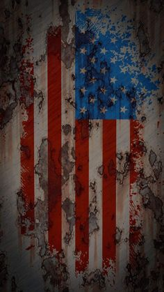 American Flag Rusted Texture iPhone Wallpaper - iPhone Wallpapers