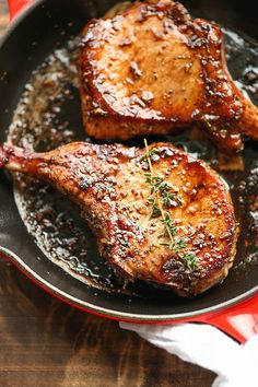 This recipe for easy pork chops with sweet and sour glaze proves that just because a dinner can be made in minimal time doesn't mean it has to compromise on taste.