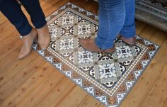 tapis imprimé carreaux ciment: ce qu'il me faut !!!