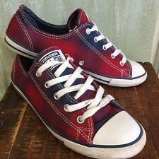 8023afc9702b Converse Blue   Red Plaid Tennis Shoes Womens 8 Red Plaid
