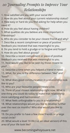 journal prompts for relationships Toxic Relationships, Healthy Relationships, Relationship Advice, Marriage Tips, Relationship Questions Game, Writing Challenge, Writing Tips, Reiki, Vie Motivation