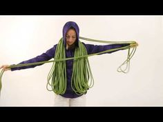Climbing Magazine - How to make a backpack coil - YouTube- She does a really good job explaining a backpack coil. Just very clear and unrushed. I enjoyed it.