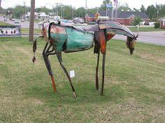 Metal Horse - Ada, Oklahoma by anyjazz65, via Flickr