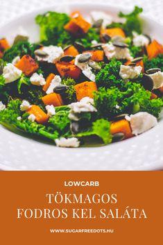 Gluténmentes köret, igazi őszi saláta. Fodros kel tökmaggal, édesburgonyával, fetával. Sugar Free