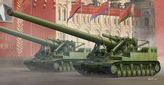 Trumpeter Soviet Kondensator Howitzer Scale Model Kit 9529 for sale online Military Guns, Military Art, Military Vehicles, Military History, Model Tank Kits, Model Tanks, Coventry, World Of Tanks, Red Army