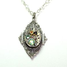 Steampunk Vintage Watch Movement Necklace. Starting at $15 on Tophatter.com!