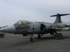Luftwaffe Lockheed F-104G Starfighter,under restauration, at Ailes Anciennes Toulouse, France.