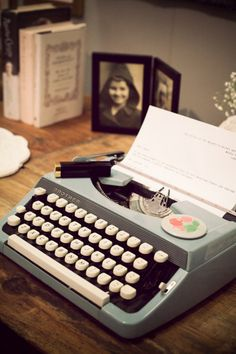I really want a type writer :) This is what I used to have when younger. I took secretarial typing, and got my start here.