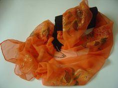 RISERVATO Sciarpa di chiffone arancione dipinta a di AdeleDaniele