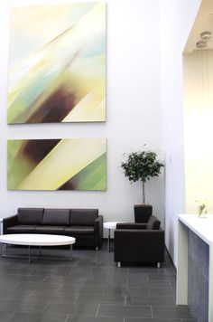 Kate Davidson Design . Reception Area.  Custom artwork by Olya Matiou  www.katedavidsondesign.com