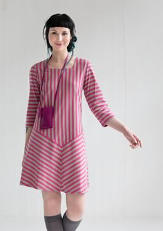 Striped dress in eco-cotton – Size XXL – GUDRUN SJÖDÉN – Webshop, mail order and boutiques | Colourful clothes and home textiles in natural materials.