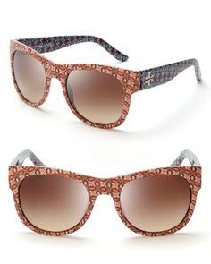 Tory Burch Printed Wayfarer Sunglasses  Bloomingdale's