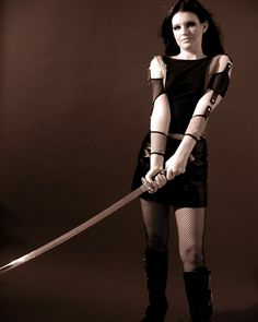 Girl with Sword Stock 10 by kristyvictoria