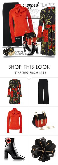 """""""#croppedflares"""" by betiboop8 ❤ liked on Polyvore featuring mode, Dolce&Gabbana, French Connection, Zac Posen, Marni, Michelle Monroe, women's clothing, women, female en woman"""