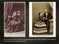 Cart de visit, the first portraits made by photography