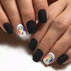 If You Love To Wear Black, Then These 66 Stunning Black Nail Ideas Are For You - like it - Nageldesign Nail Art Diy, Diy Nails, Cute Nails, Cute Black Nails, Stylish Nails, Trendy Nails, Black Nail Designs, Nail Art Designs, Nagellack Design