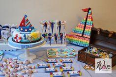 decoracion mesa de dulces marinera - Buscar con Google