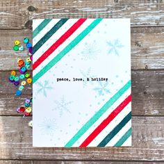 Sharp Designs: The Card Concept #138b- Christmas in July Nautical Christmas, Christmas In July, Christmas Themes, Betty Wright, Holiday Cards, Christmas Cards, Summer Design, Shaker Cards, What Inspires You