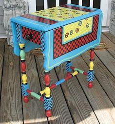 drop leaf table, kate ladd, blue heron studio