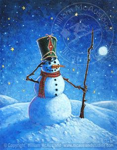 Snowman Soldier illustration by William McAusland:: Mcausland Studios, freelance illustrator, stock imagery, digital and traditional artist