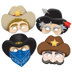 More for the cowboy and Indians party - masks!