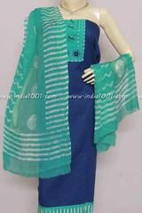 This one is a elegant suit with a beautiful cottonkurta with fine woven self pattern, ready to wear neck pattern...