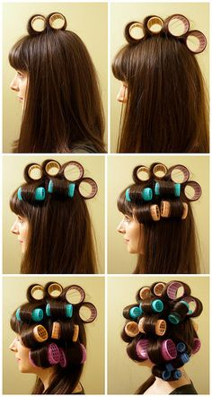 Blow Out Tutorial – if I ever learn how to use velcro rollers – Studentrate Trends - Beauty Esthetic Hair Curled Hairstyles, Diy Hairstyles, Pretty Hairstyles, Velcro Rollers, Roller Curls, Pageant Hair, Bobe, How To Curl Your Hair, Tips Belleza