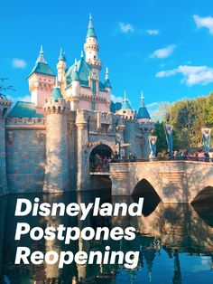 Disneyland's reopening has been postponed the Walt Disney Company just announced. They have canceled the reopening dates for both Disney Parks and the Disneyland Resort Hotels indefinitely, with no alternate date given. Downtown Disney will still reopen on JULY 9th as previously announced. Disneyland Resort Hotel, Disneyland Park, Downtown Disney, Disney S, Disney Magic, Disney Parks, Disney Grand Californian Hotel, Disney California Adventure Park, July 9th
