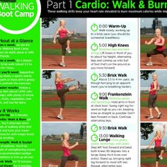 6 week walking boot camp - go to:  http://www.prevention.com/pdf/BootCamp.pdf