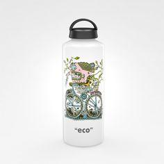 Illustration and packaging design for Laken bottles on the Behance Network
