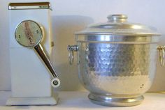 vintage ice  crusher and  bucket by theevintageshop on Etsy, $30.00