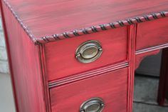 """""""Sherwin Williams Red Bay.  It's my favorite red as long as you are glazing over it with dark brown or black."""""""