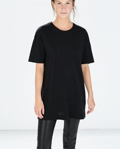 Image 1 of SPECIAL LONG COTTON T-SHIRT from Zara