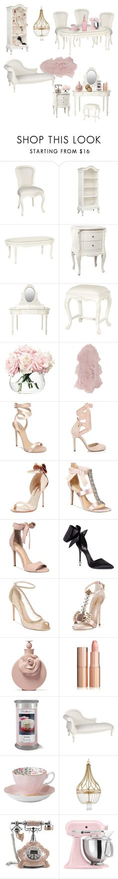 """""""French scream queens bedroom"""" by xvintageglamourx ❤ liked on Polyvore featuring LSA International, Amara, Giuseppe Zanotti, Miss Selfridge, Sophia Webster, Badgley Mischka, ALDO, Gianvito Rossi, Dsquared2 and Valentino"""